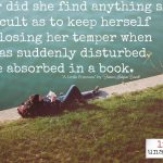 Words on Wednesday: Absorbed in a Book