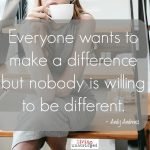 Words on Wednesday – On Making a Difference
